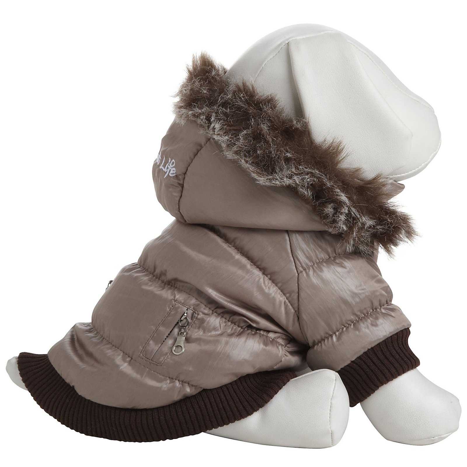 Pet Life Fashion Parka with Removable Hood