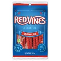 Red Vines, Jumbo Original Red Licorice Candy, 8oz