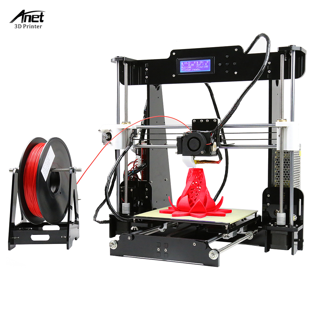 Anet A8 Upgraded High Precision Desktop Reprap i3 DIY Self Assembly 3D Printer Kits Acrylic Frame Printing 3D Printer