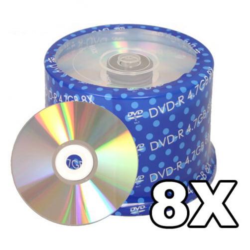 200 Spin-X 8X DVD-R 4.7GB Shiny Silver