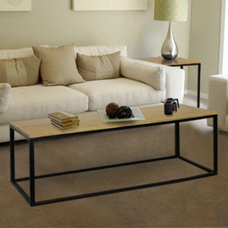 Convenience Concepts Dakota Wood Top Coffee Table