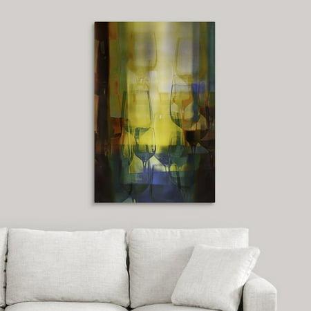 Fleur De Lis Living 'Liquid Light' Graphic Art Print on Canvas (Bsa Fleur De Lis)