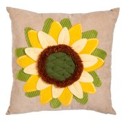 New Creative Bold Sunflower 18 inch Outdoor Safe Pillow