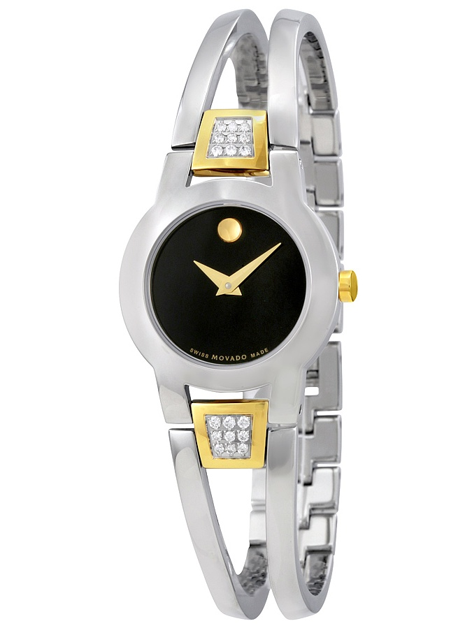 Amorosa Black Dial Diamond Ladies Watch 606894
