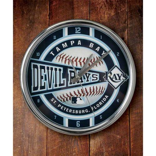 MLB - Tampa Bay Rays Chrome Clock