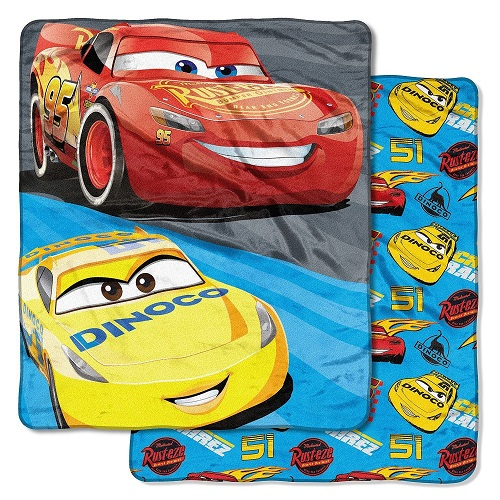 Disney Northwest Oversized 60 in X 70 in Throw  Cars Theme Fast Partners