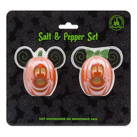 Disney Parks Mickey and Minnie Mouse Halloween Salt & Pepper Set New with Box - Disney Park Halloween Treats