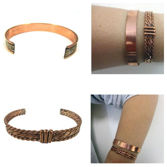 16ed0588911 AllTopBargains - Copper Pain Relief Healing Therapy Arthritis Cuff Bracelet  Bangle Women Men - Walmart.com