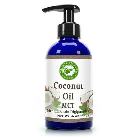 Fractionated Coconut Oil   Mct Oil From Coconut   Aceite De Coco Fraccionado  Mct  16 Oz  100  Pure