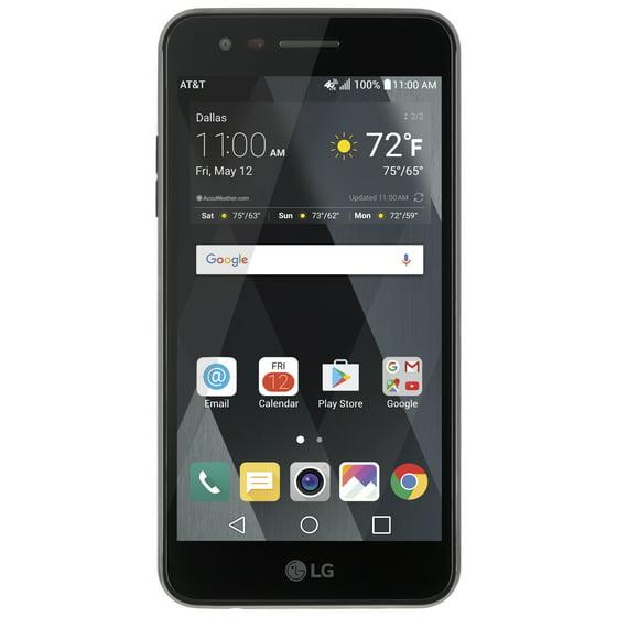 8127a16ccc AT&T PREPAID LG Phoenix 3 16GB Prepaid Smartphone, Black - Walmart.com