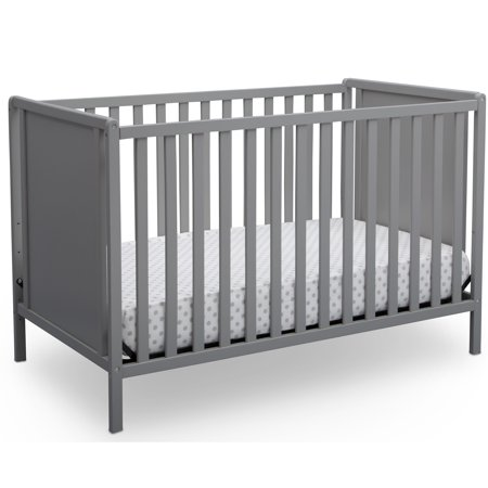 Delta Children Hudson 4-in-1 Convertible Crib, Grey (Convertible Crib Toddler Bed)