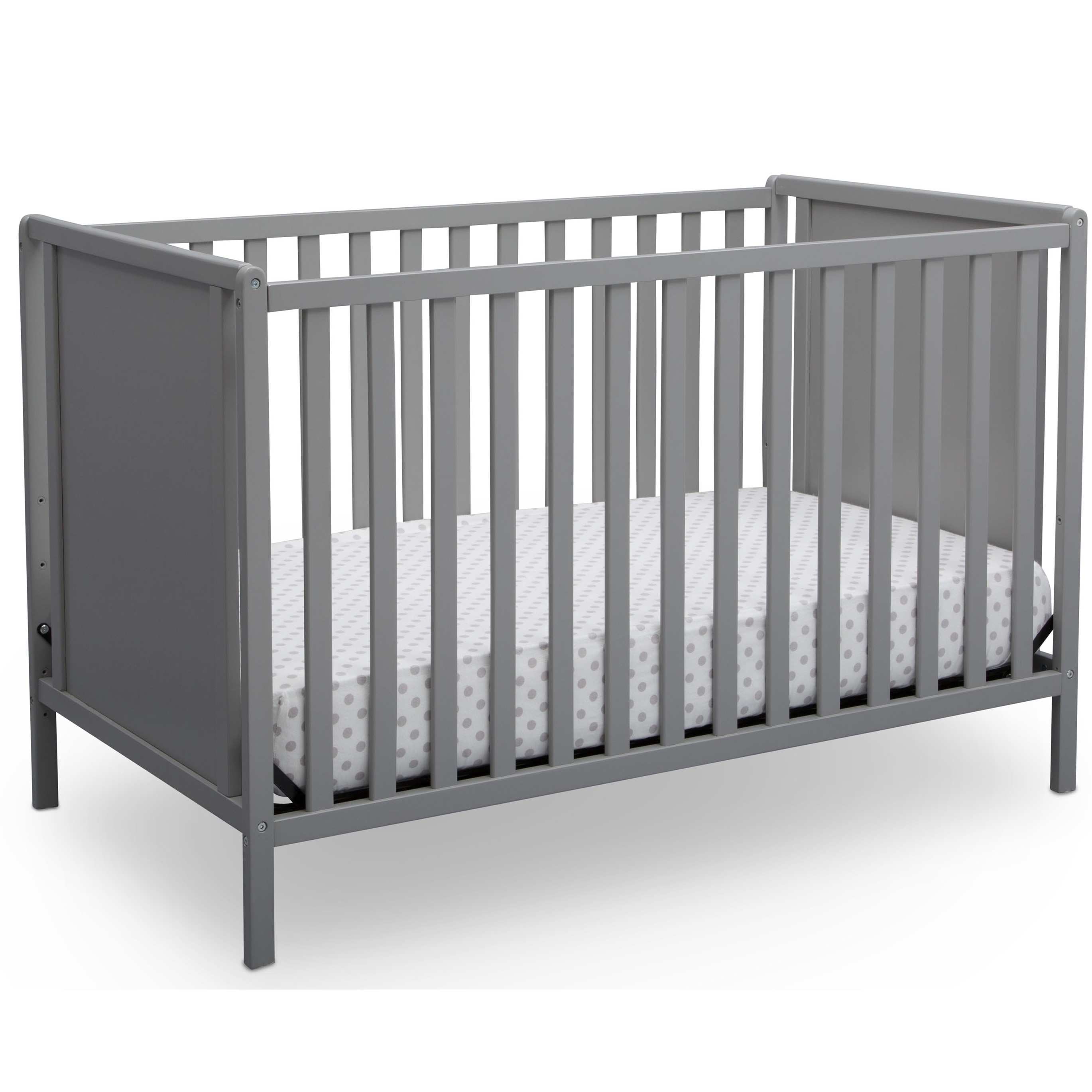 Delta Children Hudson 4-in-1 Convertible Crib, Grey