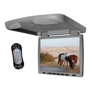 Tview T144DVFD-GR Car Flip Down DVD Monitor (Grey)