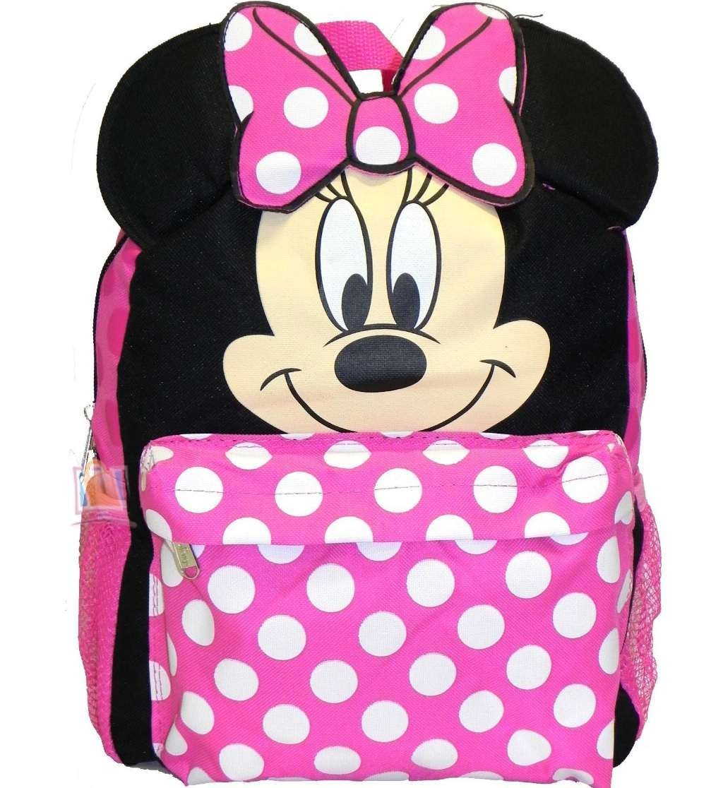 Small Backpack - Disney - Minnie Mouse Face/Ears New School Bag 625955