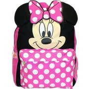 Small Backpack - - Minnie Mouse Face/Ears New School Bag 625955