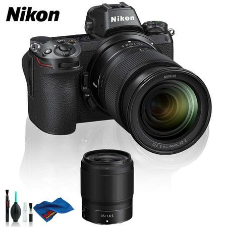 Nikon Z 6 Mirrorless Digital Camera with 24-70mm Lens, FTZ Mount Adapter, and 35mm f/1.8 S Lens Kit (Intl Model)
