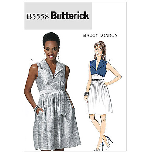 Butterick Pattern Misses' Dress and Belt, EE (14, 16, 18, 20)