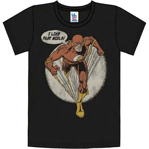 The Flash DC Comics Fast Girls Junk Food Vintage Style T-Shirt Tee