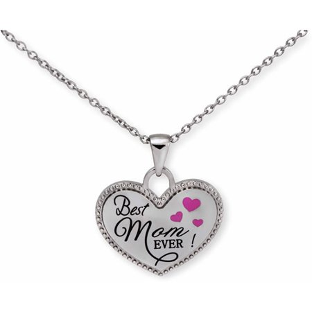 00e8720f0abea Connections from Hallmark - Stainless Steel Best Mom EVER! Heart ...