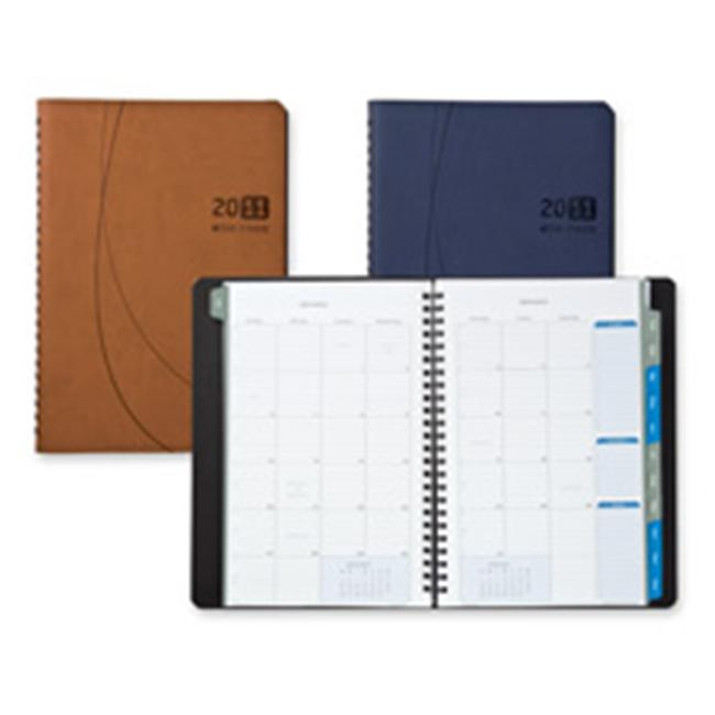 Day-timer DTM45225 Monthly Planner- Notebook- 2PPM- 9-.13in.x11-.13in.x.63in.- Blue