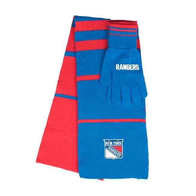 Little Earth 500657-RNGR NHL Scarf Glove Gift Set Stripe, New York Rangers by