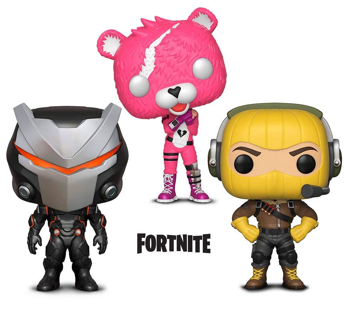 Warp Gadgets Bundle - Funko Pop GamesFortniteS1 - Cuddle Team Leader, Omega and Raptor (3 Items)