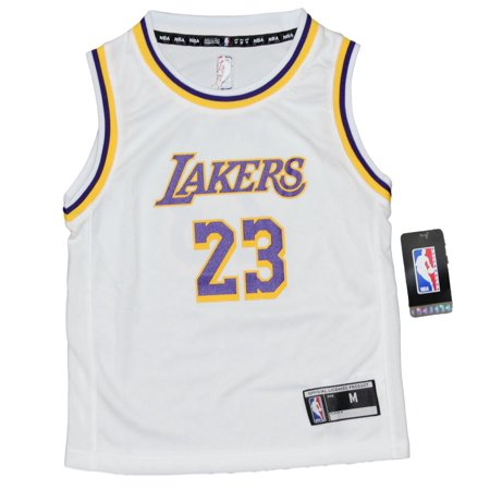 Los Angeles Lakers Team Store - Lebron James Los Angeles Lakers Kids 4-7 NBA Replica Jersey - White