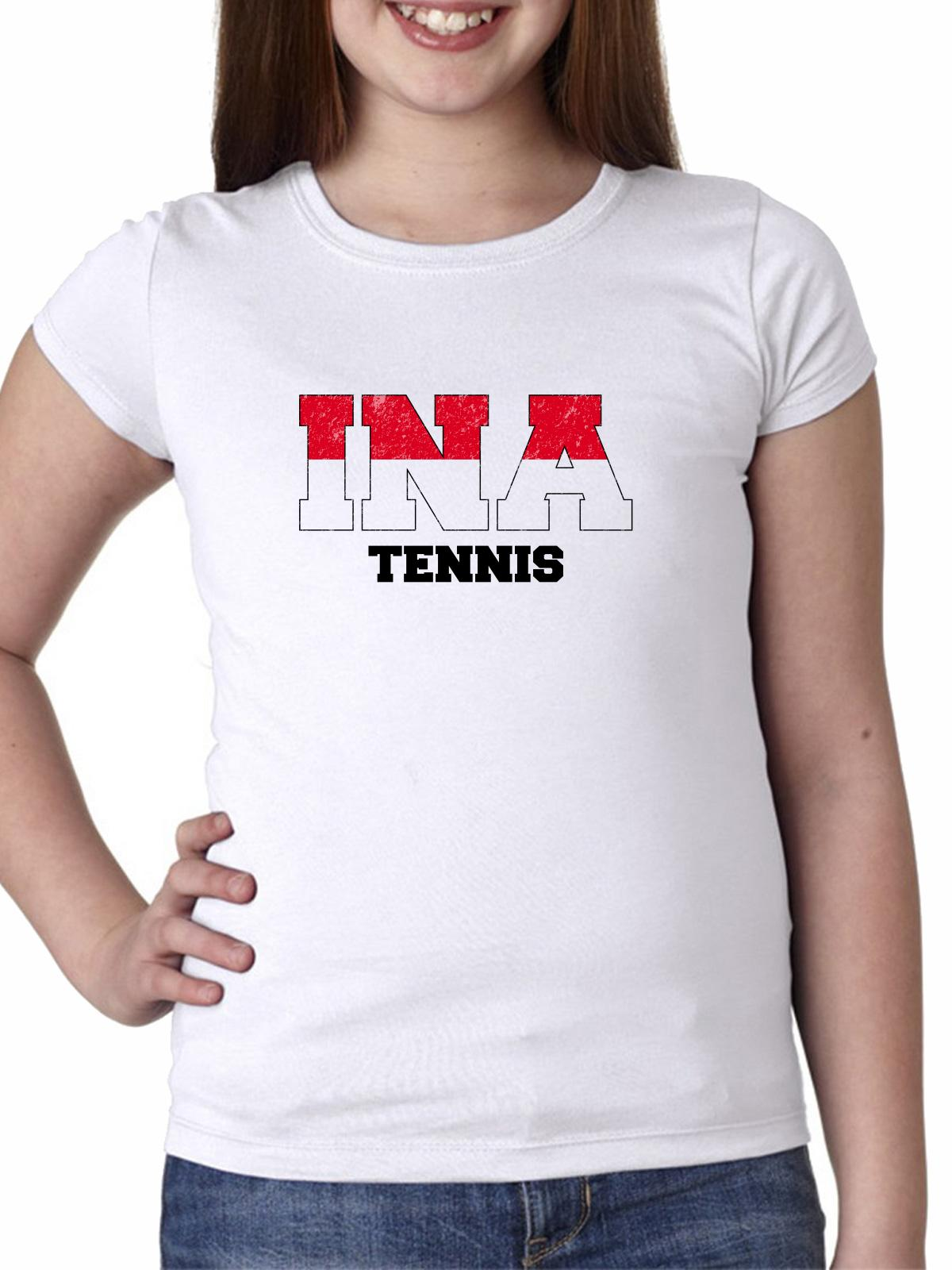 Indonesia Tennis - Olympic Games - Rio - Flag Girl's Cotton Youth T-Shirt