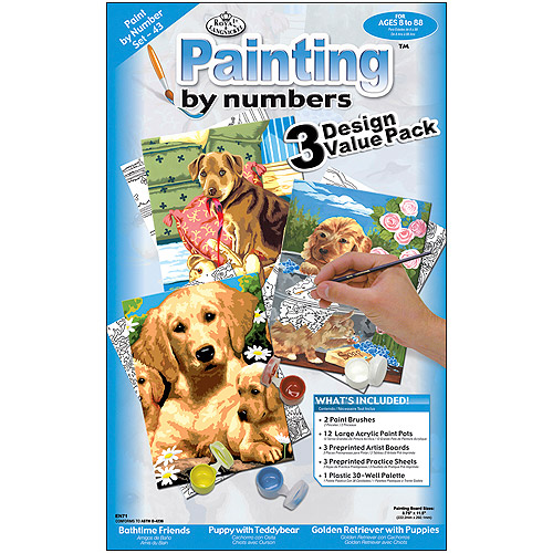 """Junior Small Paint By Number Kit, 8-3/4"""" x 11-3/4"""", 3 per package"""