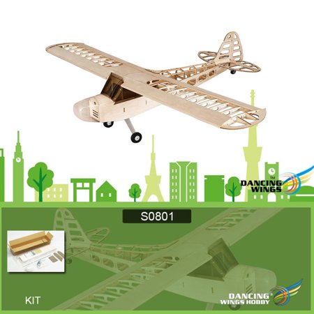 Dancing Wings Hobby S0801 Balsa Wood RC Airplane 1.2M Piper Cub J-3 Remote Control Aircraft KIT Version DIY Flying - Wood Airplane