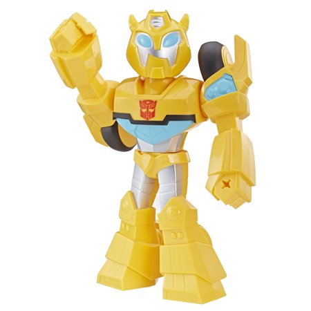 Playskool Heroes Transformers Rescue Bots Academy Mega Mighties Bumblebee Collectible 10-Inch Robot Action Figure, Toys for Kids Ages 3 and Up (Rescue Bots Party Supplies)