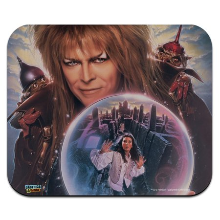 Labyrinth Crystal Ball Goblin King Jareth David Bowie Low Profile Thin Mouse Pad (Low Profile Backup Pad)