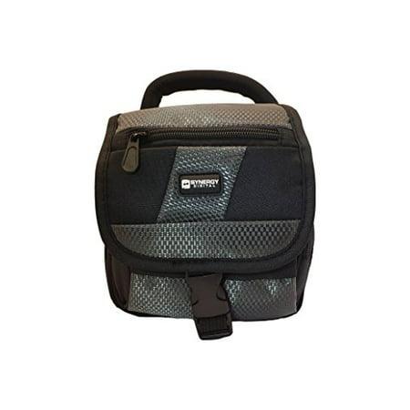 Nikon D3100 Digital Camera Case Camcorder and Digital Camera Case - Carry Handle & Adjustable Shoulder Strap - Black / Grey - Replacement by Synergy (Nikon D3100 Camera Messenger Bag)
