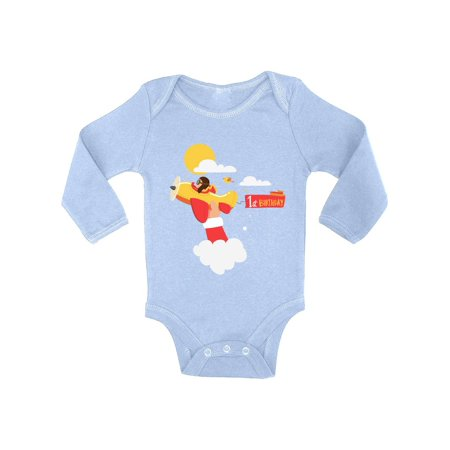 6f119d328 Awkward Styles Pilot Birthday Baby Bodysuit Long Sleeve Pilot Gifts for 1  Year Old Pilot One Piece Top for Baby Boy Birthday Baby Girl Bodysuit Cute  1st ...