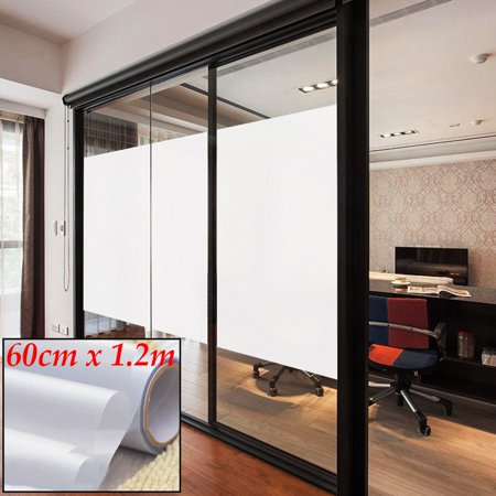 "PVC Frosted Glass Window Film Sticker Removable For Office Home Bedroom Bathroom Protect Privacy 196.85x35.43"" 24""x 12FT 24x48"" - image 4 of 5"