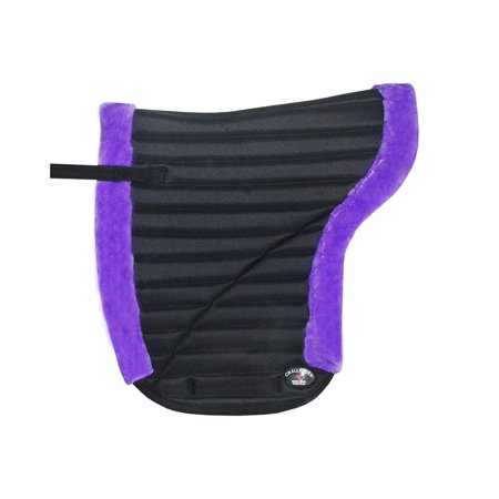 Fleeceworks Close Contact Pad (Horse English SADDLE PAD Contour Close Contact Pad Fleece Memory Purple)
