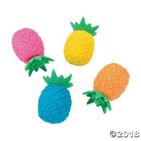 Bright Pineapple Erasers