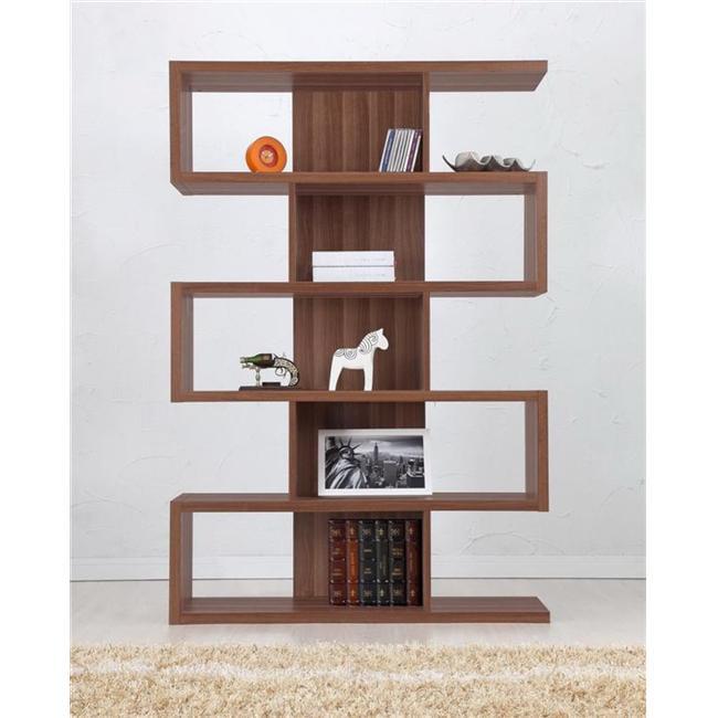 Enitial Lab Ynj Bc2000wnta1 Marcel Modern Walnut Bookcase