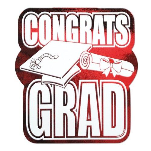 The Party Aisle Graduation Printed Foil Congrats Cutout