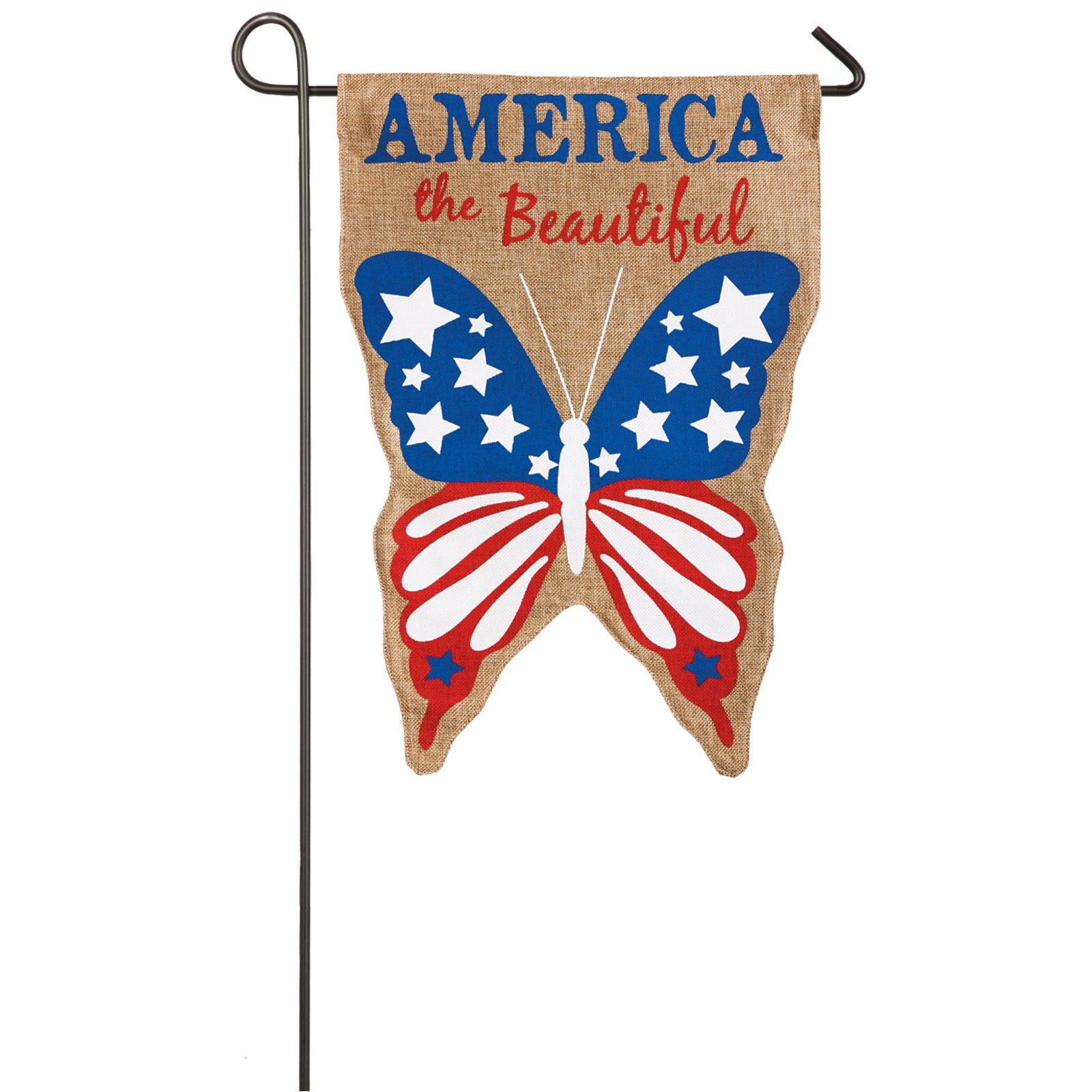 Evergreen Flag America the Beautiful Garden Flag
