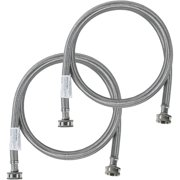 Certified Appliance Accessories 77505 2 Pk Braided Stainless Steel Washing Machine Hoses, 6ft