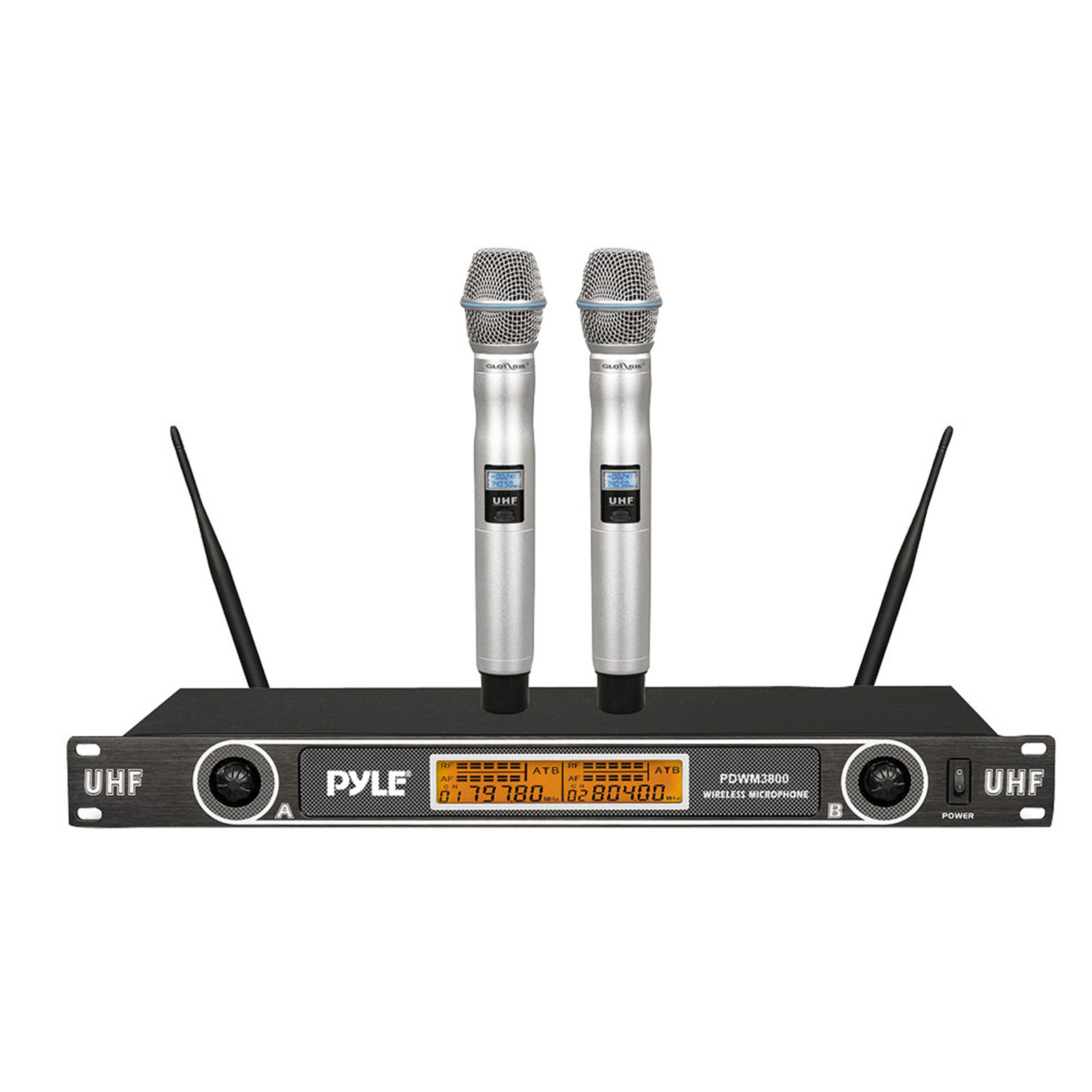 PylePro Professional Rack Mount Dual 2.4G Handheld Microphone System by Pyle