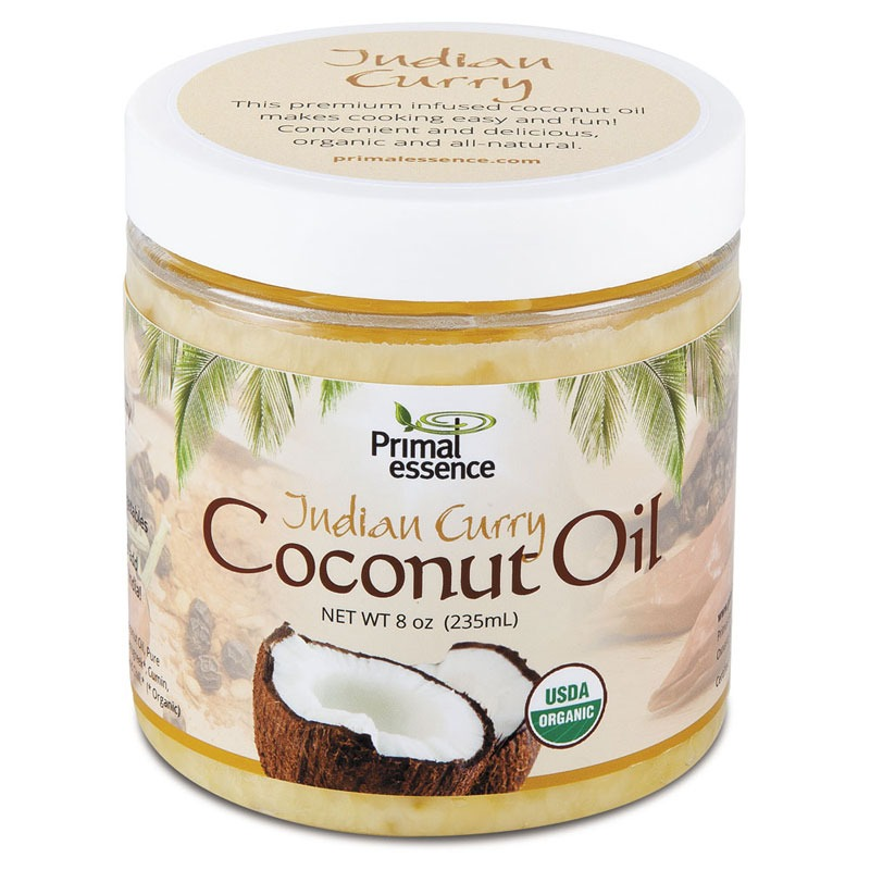 Organic Infused  Coconut Oil Indian Curry Primal Essence 8 oz Oil