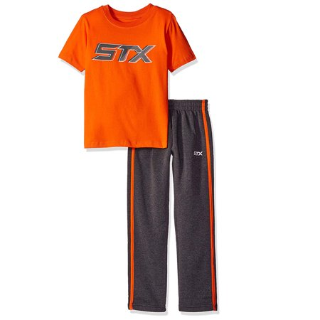 - Active Performance Short Sleeve Tee and Fleece Pant, 2-Piece Set (Little Boys & Big Boys)