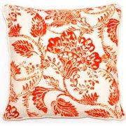 Corona Dcor Corona Decor Bali Collection Orange Floral 18-inch Throw Pillow