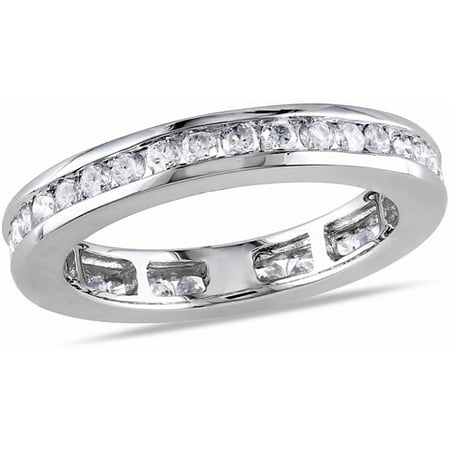 4/5 Carat T.W. Diamond 14kt White Gold Eternity (Diamond Tw Eternity Ring)