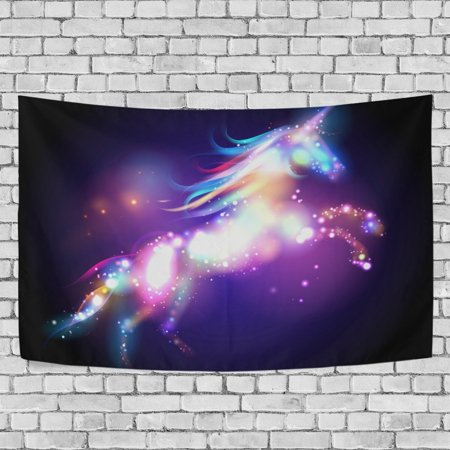 MYPOP Unicorn Magic With Stars Tapestry Wall Hanging Decoration Home Decor Living Room Dorm 90 x 60 inches](60 Decorations)