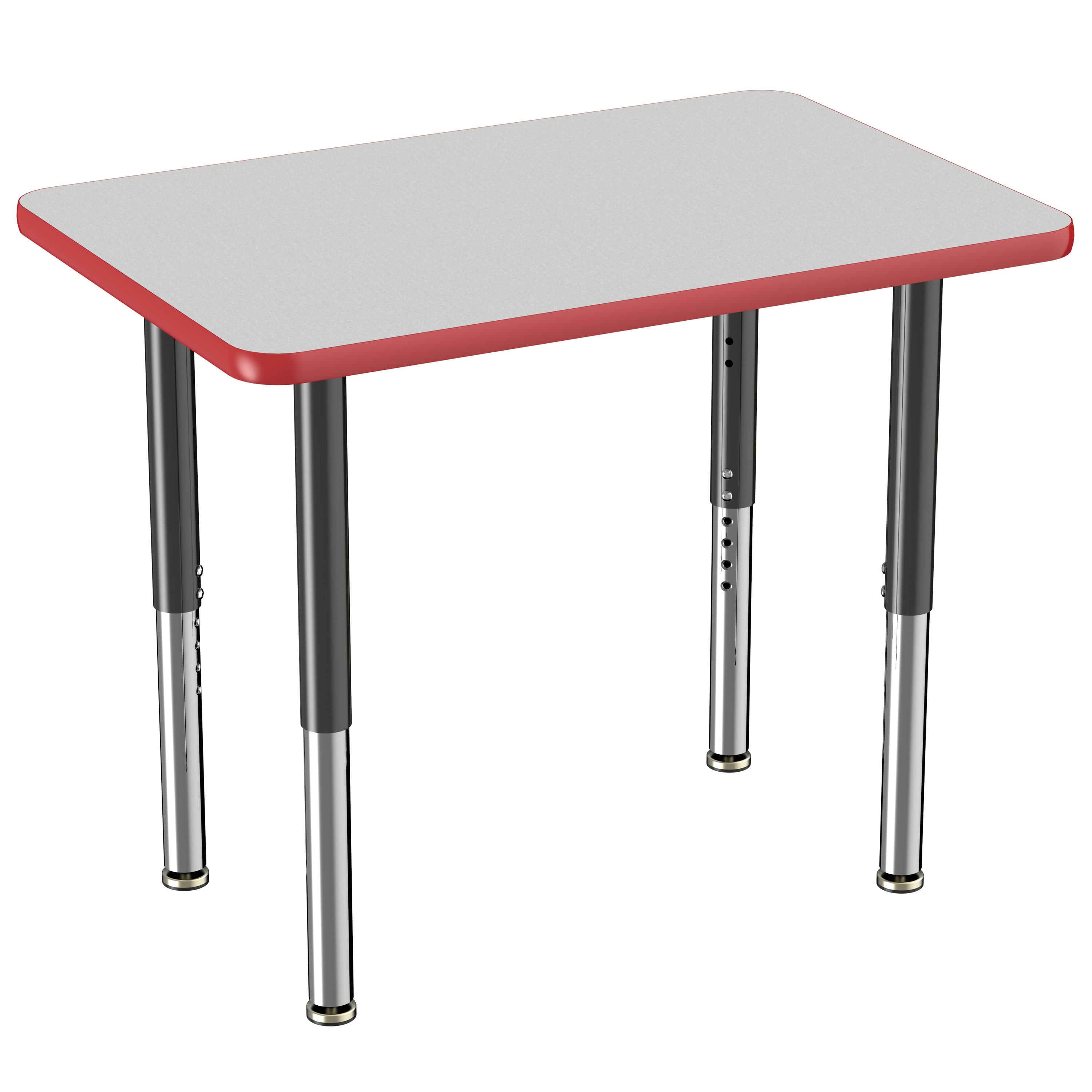 ECR4Kids 24in x 36in Rectangle Premium Thermo-Fused Adjustable Activity Table Maple/Maple/Silver - Super Leg