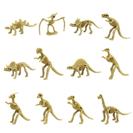 hotsales Dinosaur Fossil Skeleton (12 Pieces) Assorted Figures Dino Bones 3.7 Inch](Dinosaur Skeleton)