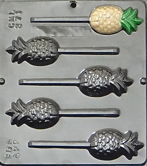 Click here to buy 271 Pineapple Lollipop Chocolate Candy Mold.